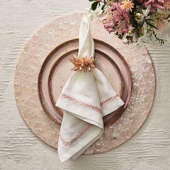 Serviette Jardin - Rosé - Lot de 4