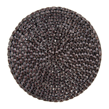 Woven Beaded Coaster - Set of 4 - Gunmetal