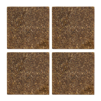 Resin Wood Chip Coaster - Set of 4