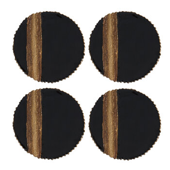 Stripe Coaster - Set of 4 - Bronze