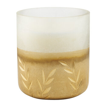 Frosted Glass Candle - Small - Winter White