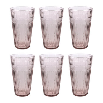 Barroc Highball Glasses - Set of 6 - Purple