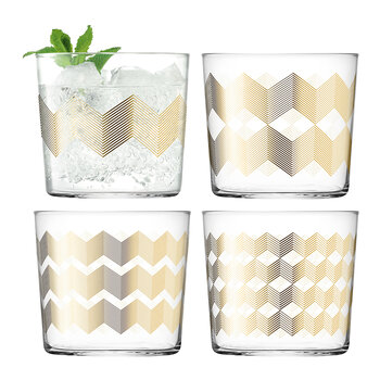 Chevron Tumbler - Set of 4