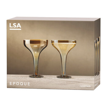 Epoque Champagne Saucer - Set of 2 - Amber
