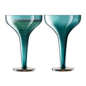 Epoque Champagne Saucer - Set of 2 - Peacock