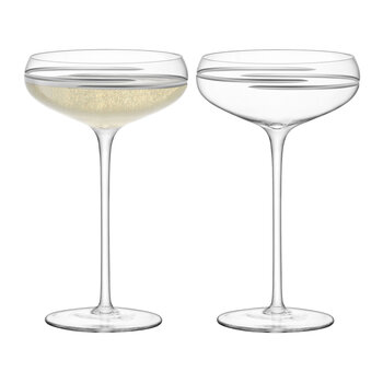 Verso Champagne Saucer - Set of 2