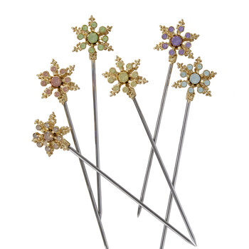 Snowflake Cocktail Picks - Pastel