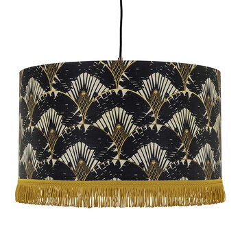 Ravenala Drum Ceiling Light - Dark