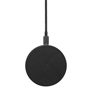 Drop Wireless Charger Pad - Black Leather