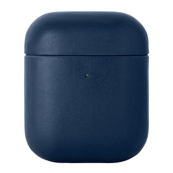Leather Airpods Case - Blue