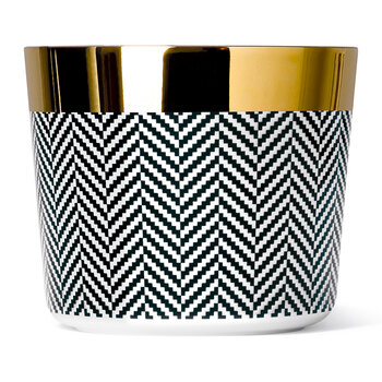 Sip of Gold Fashion Collection Champagne Goblet - Herringbone
