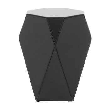 Iras Glass Side Table - Black