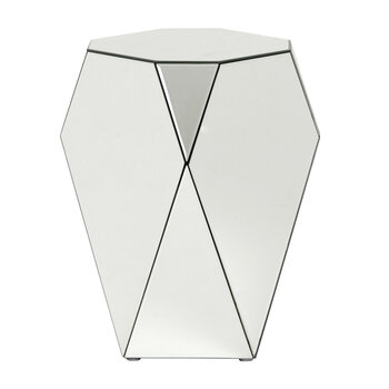 Iras Glass Side Table - Clear