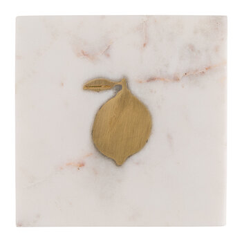 Marble Lemon Coaster - Grey