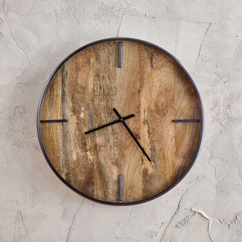 Alomi Mango Wood Clock