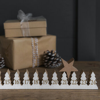 Wooden Star Advent Calendar