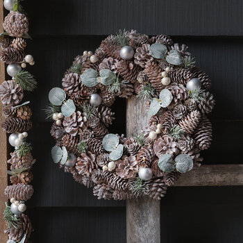 Frosted Pinecone & Pearl Berry Garland