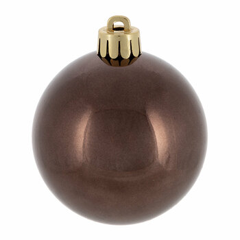 Set of 30 Assorted Baubles - Dark Brown