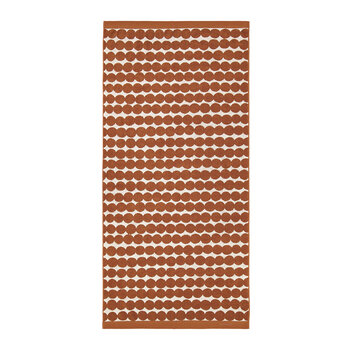Räsymatto Towel - Orange/White - Bath Towel