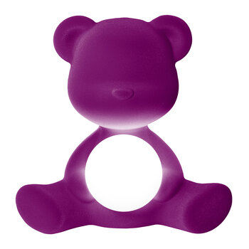 Lampe Velours Teddy Girl - Violet