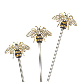 Stripey Bee Swizzle Sticks - Set of 6