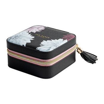 Zipped Jewellery Case - Black/Clove - Black/Clove