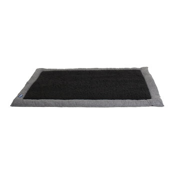 Travel Pet Bed - Light Grey/Black Fleece