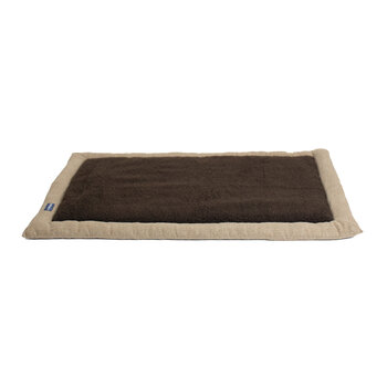 Travel Dog Bed - Oatmeal/Brown Fleece