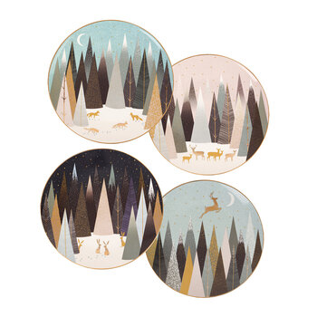 Frosted Pines Plate - Set of 4