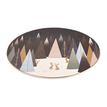 Frosted Pines Rabbit Serving Plate