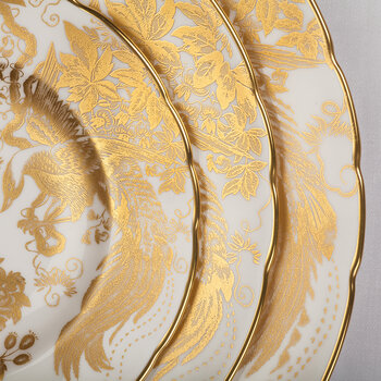 Aves Gold Salad Plate