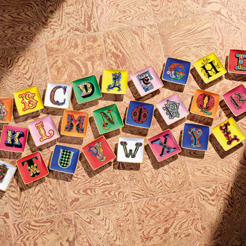 Alphabet Trinket Trays - L