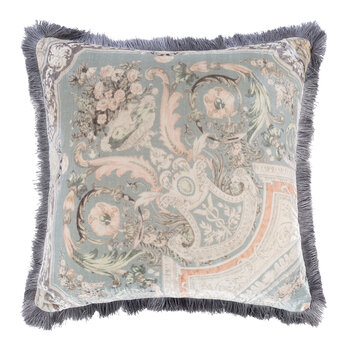 Arles Bizet Pillow with Piping - 60x60cm - Gray