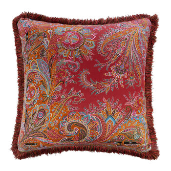 Exeter Cornovaglia Cushion with Piping - 60x60cm - Red