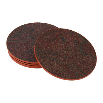 Ha Samara Coaster - Set of 6 - Orange