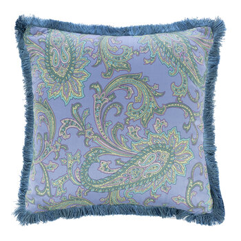 Navas Girona Pillow with Piping - 45x45cm - Blue