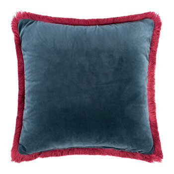 Navas Valira Embroidered Pillow - 45x45cm - Light Blue