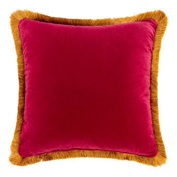 Navas Valira Embroidered Pillow - 45x45cm - Red