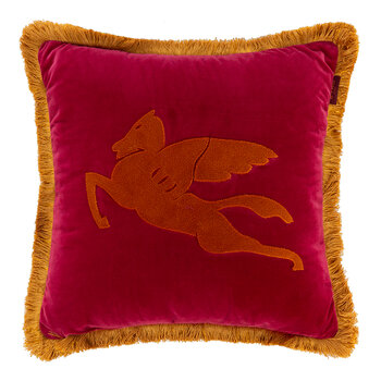 Navas Valira Embroidered Cushion - 45x45cm - Red