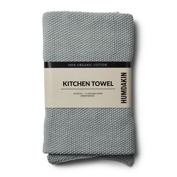 Knitted Tea Towel - Stone