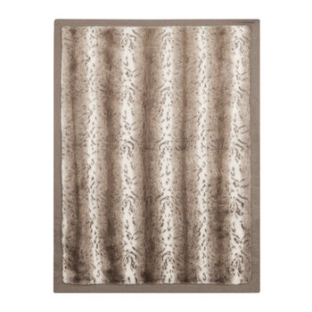 Agadir Polizzi Faux Fur Throw - 140x185cm - Beige