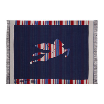 Exeter Veere Fringed Throw - 140x180cm - Blue