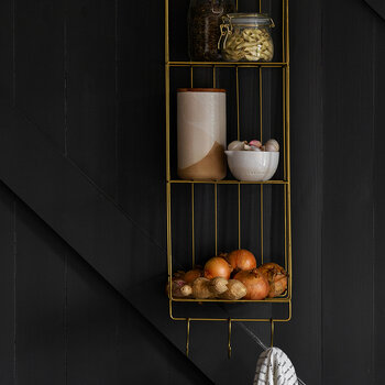 Wall Shelves With Hooks - 3 Tier