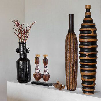 Wood Stripe Vase