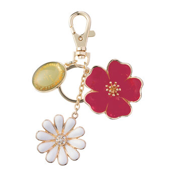 Bouquet of Flowers Keyring - Pink/Blue