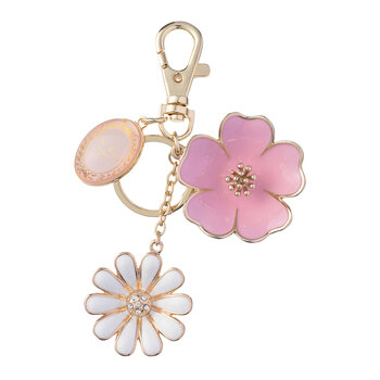 Bouquet of Flowers Keyring - Pink