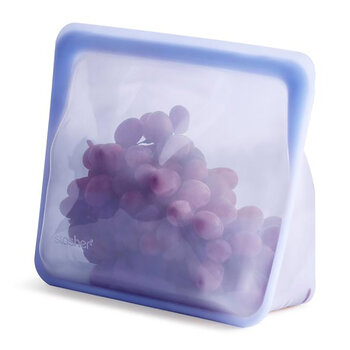 Silicone Reusable Stand Up Bag - Amethyst