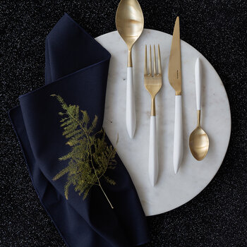 Ares 24 Piece Cutlery Set - White Gold