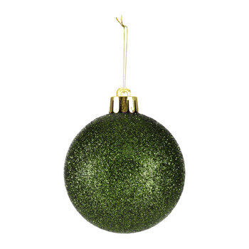 Set of 40 Assorted Baubles - Pine Green
