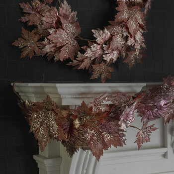Metallic Glitter Grape Garland - Pink